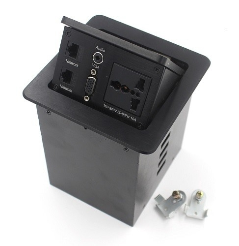 Electrical Pop Up Mains Sockets Silver Panel 250 Voltage Max CE Certificate