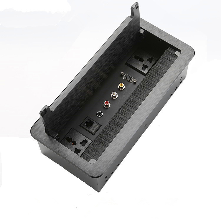 Multi - Function Manual Desktop Flip Data Junction Box / Power Data Integrated Socket