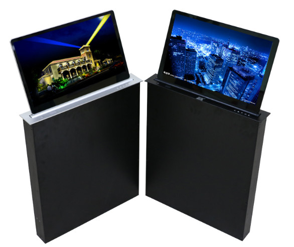 Ultra - Thin Electric LCD Monitor Lift For Conference Room Interior Fit Out
