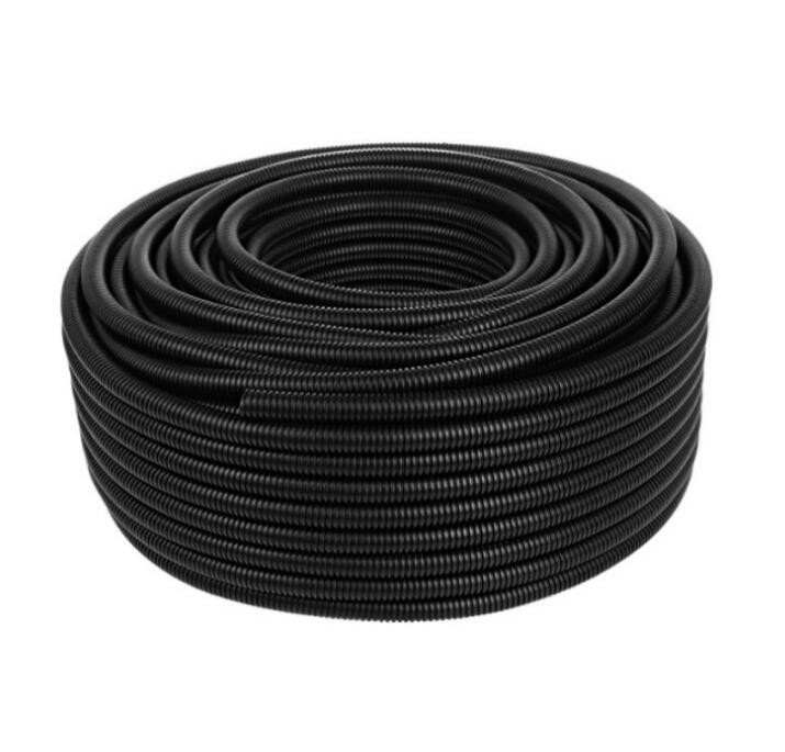 Black PE Plastic Bellows Polyethylene Threading Hose Wire And Cable Protection Sleeve