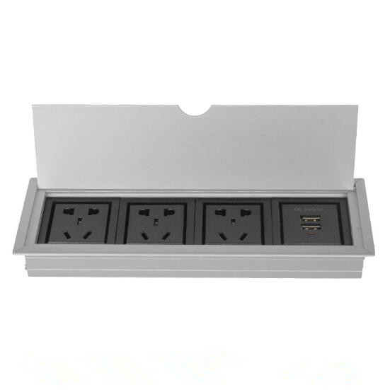Multimedia Conference Table Socket , 110V-240V Desktop Socket Information Box